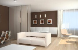 стиль минимализм в интерьере гостинной