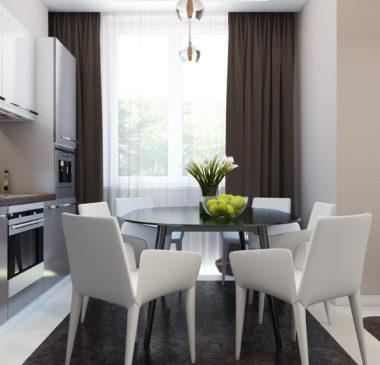 Дизайн однокомнатной квартиры (Москва)